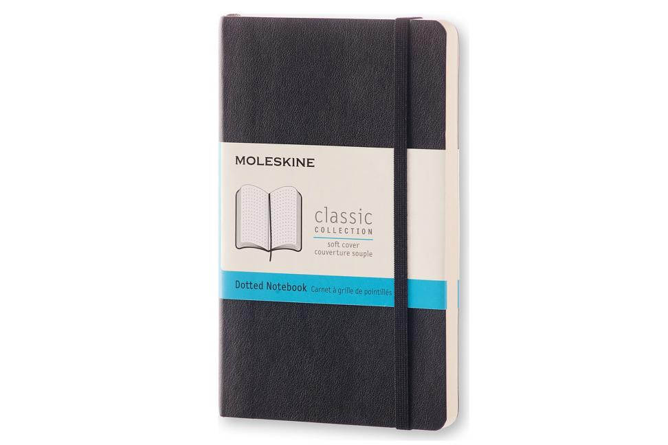 "Moleskine Classic Notebook, Pocket, Dotted, Black, Soft Cover (3.5 X 5.5""). Moleskine"