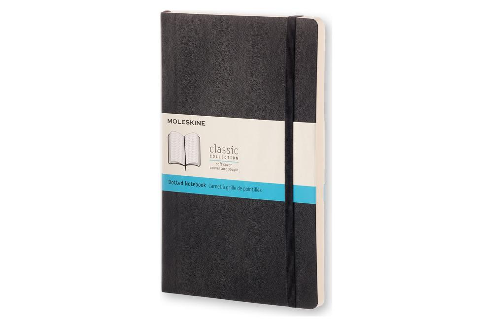 "Moleskine Classic Notebook, Large, Dotted, Black, Soft Cover (5 X 8.25""). Moleskine"