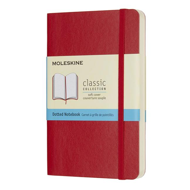 "Moleskine Classic Notebook, Pocket, Dotted, Scarlet Red, Soft Cover (3.5 X 5.5""). Moleskine"