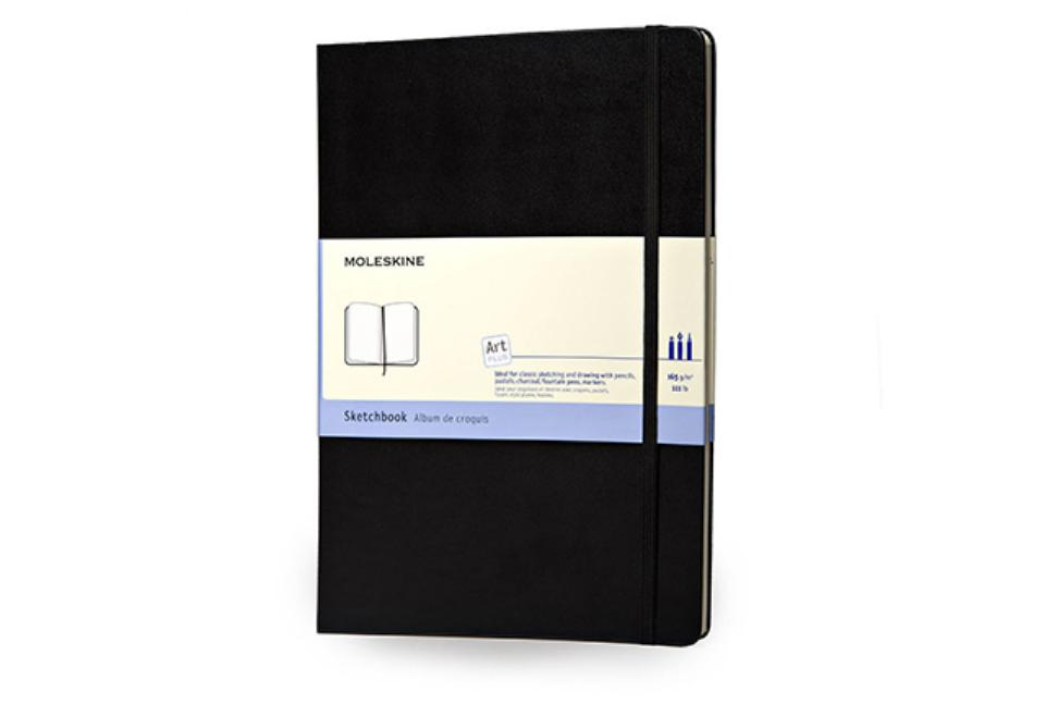 "Moleskine Art Plus Sketchbook, Large, Black, Hard Cover (8.5 x 12""). Moleskine"