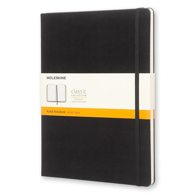 "Moleskine Classic Notebook, Extra Large, Ruled, Black, Hard Cover (7.5 X 10""). Moleskine"
