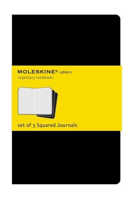 "Moleskine Cahier Journal (Set of 3), Pocket, Squared, Black, Soft Cover (3.5 X 5.5""). Moleskine"
