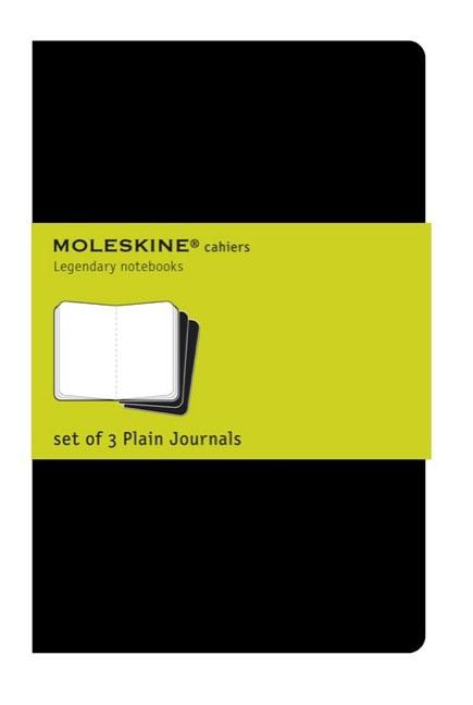 "Moleskine Cahier Journal (Set of 3), Pocket, Plain, Black, Soft Cover (3.5 X 5.5""). Moleskine"