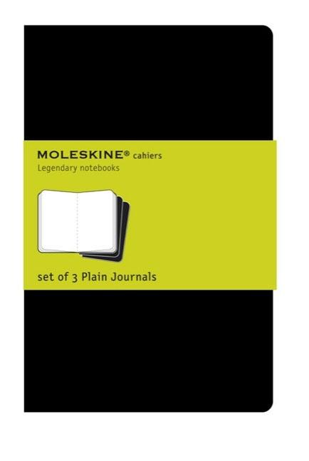 "Moleskine Cahier Journal (Set of 3), Large, Plain, Black, Soft Cover (5 X 8.25""). Moleskine"
