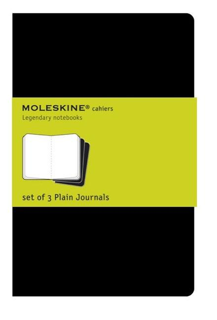 "Moleskine Cahier Journal (Set of 3), Extra Large, Plain, Black, Soft Cover (7.5 X 10""). Moleskine"