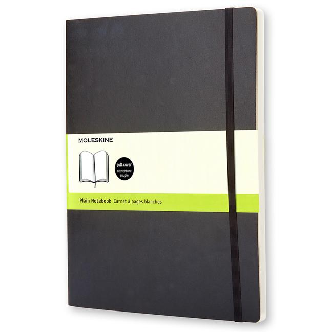 "Moleskine Classic Notebook, Extra Large, Plain, Black, Soft Cover (7.5 X 10""). Moleskine"