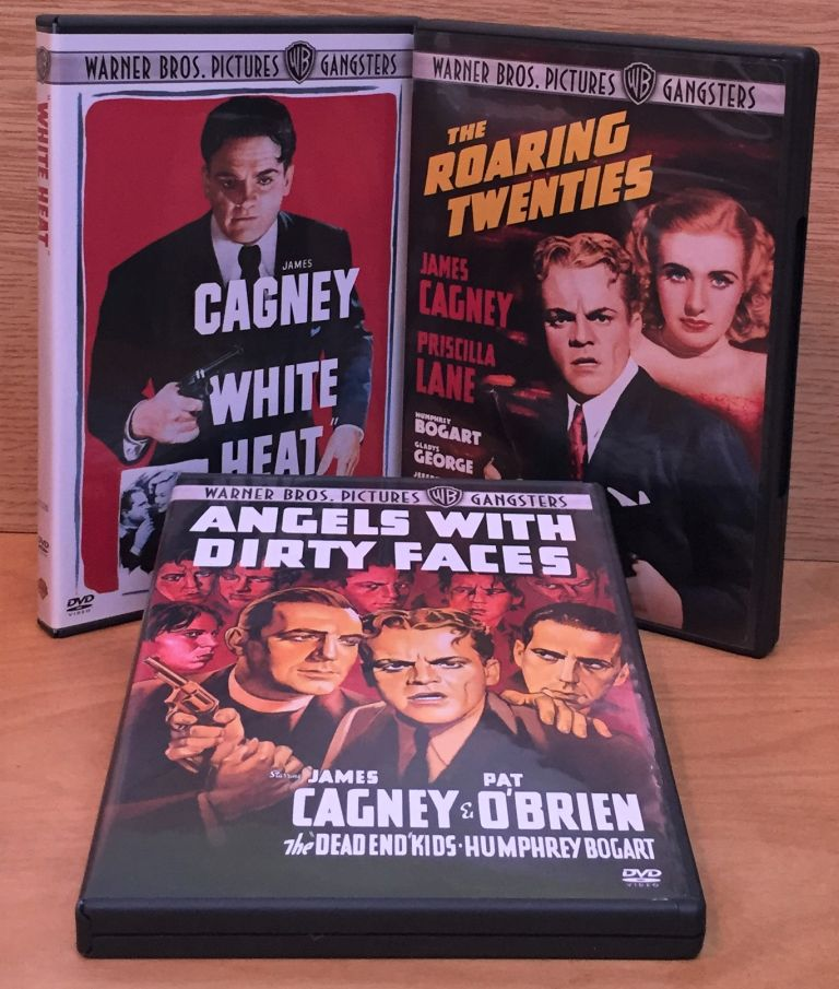 Warner Bros. Pictures Gangsters - 3 Feature Films Starring James Cagney: Angels with Dirty Faces / The Roaring Twenties / White Heat. James Cagney, Starring.