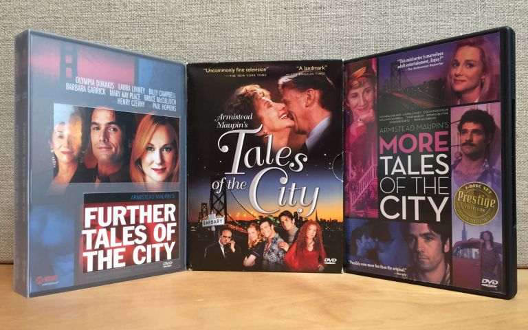 Tales of the City (1993); More Tales of the City (1998); Further Tales of the City (2001) – First 3 seasons complete in 3 DVD sets & 7 DVDs. Armistead Maupin, Alan Poul, Richard Kramer, Nicholas Wright, James et. al Lecesne, Author, Producer, Teleplay.