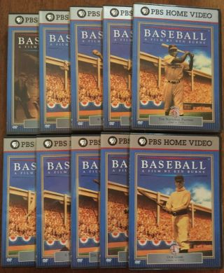 Baseball - 10 DVD Set. Ken Burns