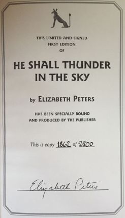 He Shall Thunder in the Sky: An Amelia Peabody Mystery