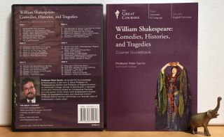 William Shakespeare: Comedies, Histories, and Tragedies (Complete set of 6 DVDs + Course Guidebook)